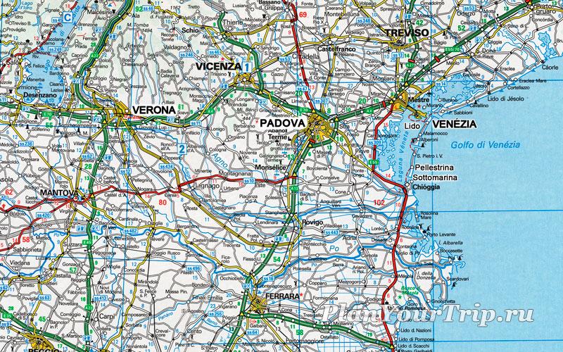 Карта Венето